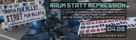 [04.09.] Demo-Aufruf: Raum Statt Repression!