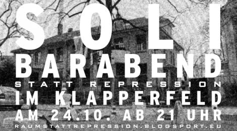 [24.10.] Soli-Barabend statt Repression